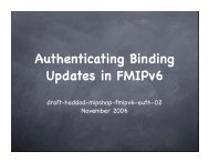 Authenticating FMIPv6 Handovers