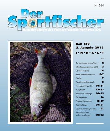 Mitteilungsblatt des Fischereivereins Hannover e.V. H 1264 Heft 160 ...