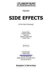 Presseheft Side Effects - Ascot Elite Entertainment Group