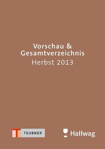 Vorschau & Gesamtverzeichnis Herbst 2013 - Gräfe und Unzer