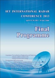 to download final conference programme - IET International Radar ...