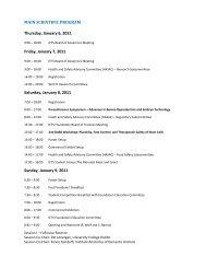 MAIN SCIENTIFIC PROGRAM Thursday, January 6, 2011 Friday ...