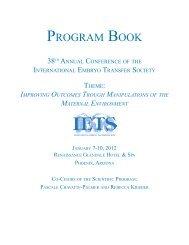 Program Book 2012.indd - International Embryo Transfer Society
