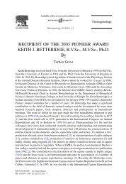 Keith J. Betteridge - International Embryo Transfer Society