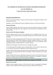 2012 Summary of Conclusions of the January Meeting