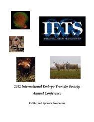 2012 International Embryo Transfer Society Annual Conference