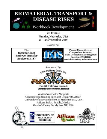 Biomaterials and Disease Risk Workbook - International Embryo ...