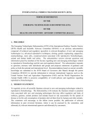 Terms of Reference - International Embryo Transfer Society