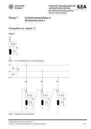 Übung 7 Gleichstrommaschinen 2 Drehstromsystem 1 - Institut für ...