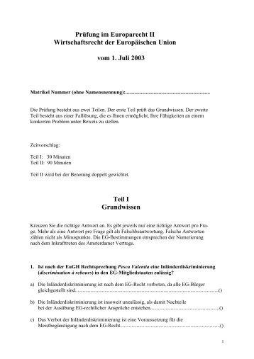 Europarecht II
