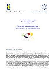 Open Channels for Europe! - Bundesverband Offene Kanäle