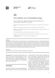 Non-epilepsy uses of antiepileptic drugs
