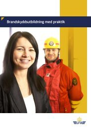 Brandskyddsutbildning med praktik