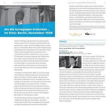 Als die Synagogen brannten - Deutsches Historisches Museum