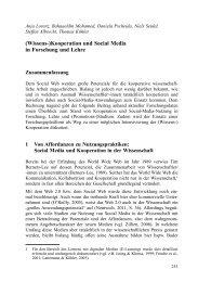 (Wissens-)Kooperation und Social Media in Forschung und Lehre