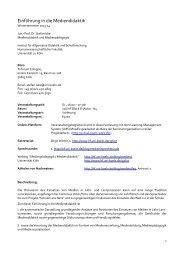 Ablauf und Seminarplan als PDF - Humanwissenschaftliche Fakultät