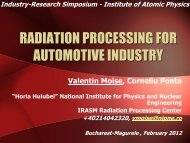 Applications of Radiation Processing - IFA