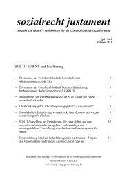 Sozialrecht justament 1-2013