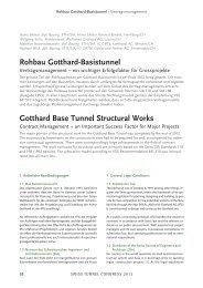 Gotthard-Basistunnel - Vertragsmanagment - AlpTransit Gotthard AG