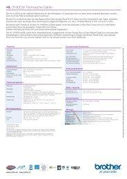 HL-3140CW Technische Daten