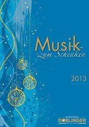 Musik zum Schenken 2013 - Musikhaus Doblinger