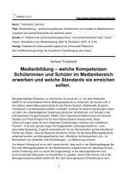 Medienbildung – welche Kompetenzen Schülerinnen und Schüler ...