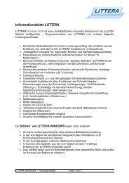 Informationsblatt LITTERA WINDOWS