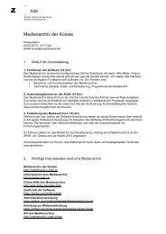 Medienarchiv der Künste - Zürcher Hochschule der Künste
