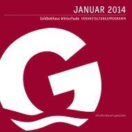 Veranstaltungsprogramm Januar 2014 - im Goldbekhaus