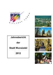 zum Bericht 2012 - Wunsiedel