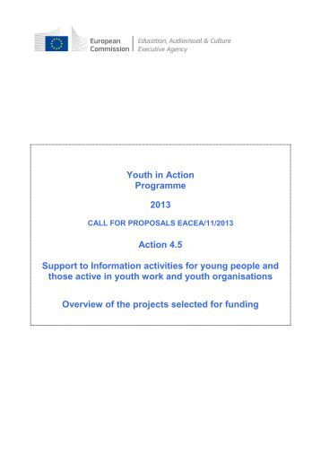 Compendium Action 4.5 - Call for proposals EACEA/11/2013 - Europa