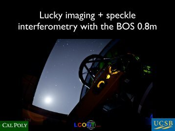 Lucky imaging + speckle interferometry with the BOS 0.8m