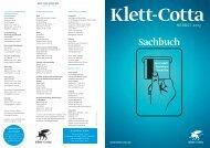 Neuerscheinungen Sachbuch Sommer/Herbst 2013 - Klett-Cotta
