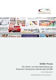 Ausgabe 8 (19.02.2013) - Der Deutsche Olympische Sportbund
