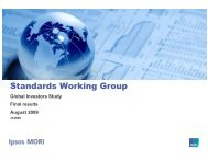 Standards Working Group - International Federation of Accountants