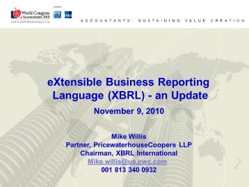 eXtensible Business Reporting Language (XBRL) - an Update - IFAC