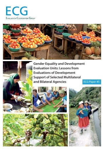 Gender equality and development evaluation units - IFAD
