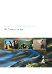 Land and water governance: IFAD experience