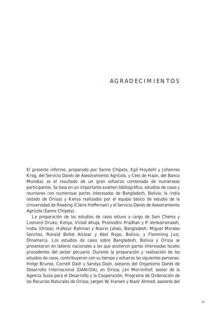 Servicios pecuarios y población pobre - IFAD