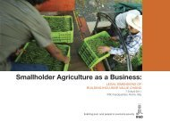 Smallholder Agriculture as a Business: - IFAD
