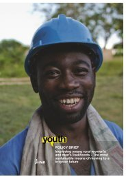 POLICY BRIEF Improving young rural women's and men's ... - IFAD