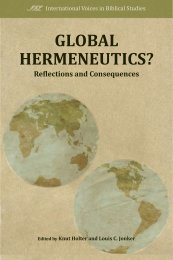 Global Hermeneutics? - International Voices in Biblical Studies ...