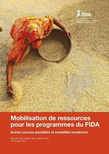 Mobilisation de ressources pour les programmes du FIDA - IFAD