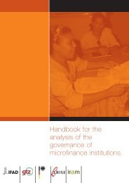 Handbook for the analysis of the governance of microfinance ... - IFAD
