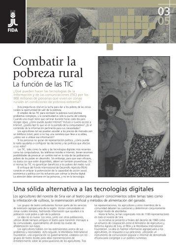 Combatir la pobreza rural - IFAD