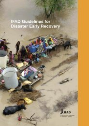 IFAD Disaster Early Recovery Guidelines