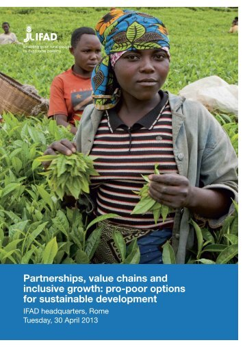 Partnerships, value chains and inclusive growth: pro-poor ... - IFAD