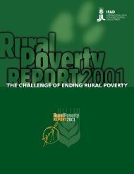 THE CHALLENGE OF ENDING RURAL POVERTY - IFAD