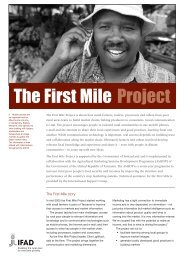 The First Mile Project - IFAD