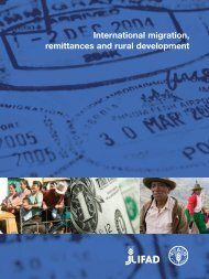 International migration, remittances and rural development - IFAD